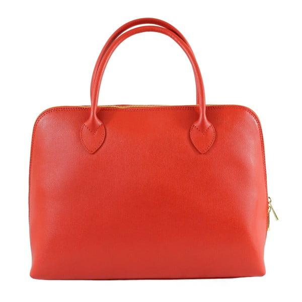 Czerwona skórzana torebka Jenna