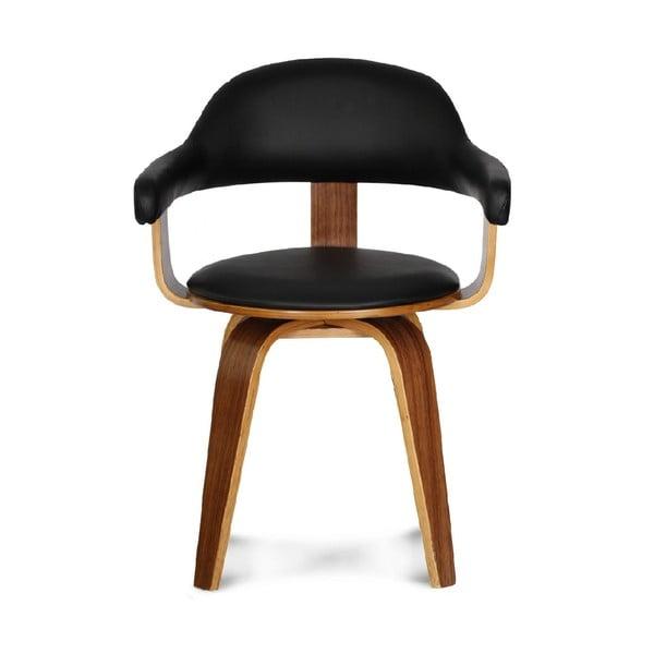 Krzesło obrotowe Suedoise Noire