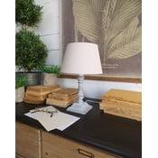 Szara lampa stołowa Orchidea Milano Country, 33 cm