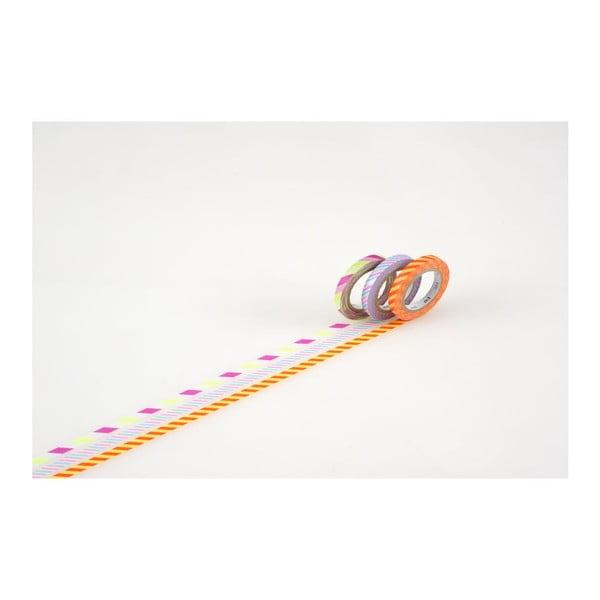 Zestaw 3 taśm dekoracyjnych washi Whist B
