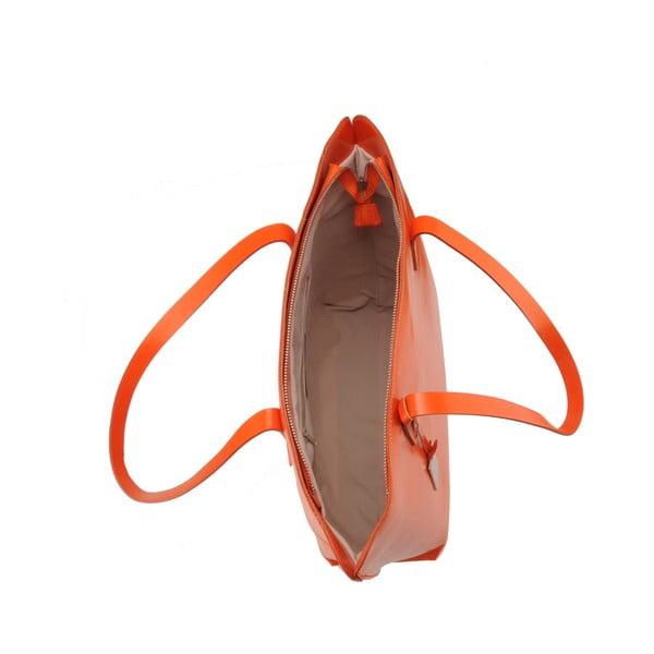 Skórzana torebka Vega, pomarańczowa