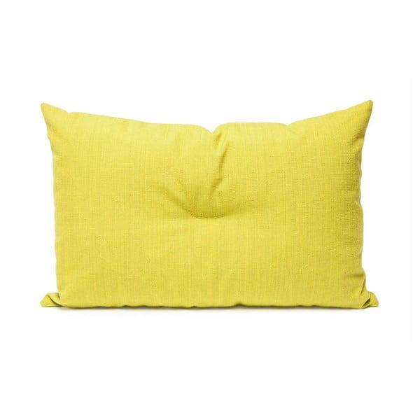 Wełniana poduszka Crips, żółta
