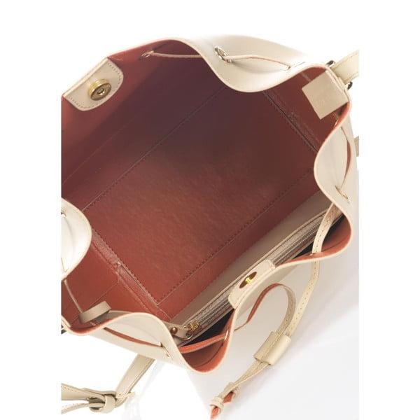Beżowa torebka skórzana Krole Klara
