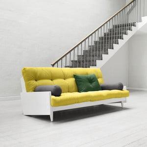 Sofa rozkładana Karup Indie White/Pistacio/Gris