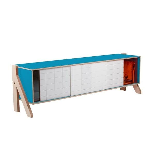 Niebieska komoda rform Frame, dł. 165 cm