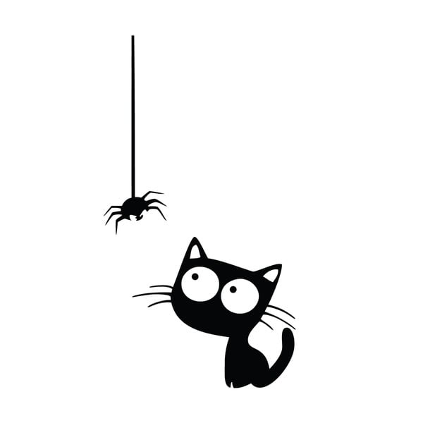 Naklejka Ambiance Cat And Spider