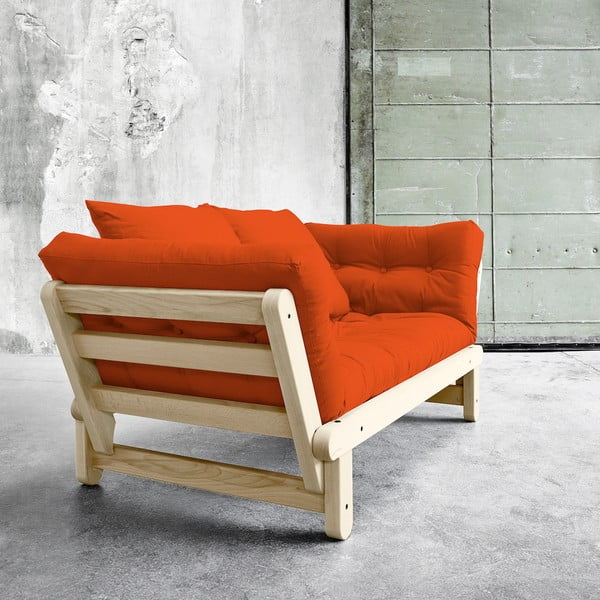 Sofa rozkładana Karup Beat Natural/Orange