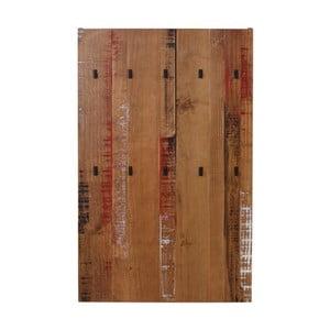 Wieszak ścienny z litego drewna sosnowego do przedpokoju Støraa Santana