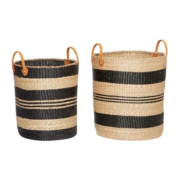 Zestaw 2 koszyków z trawy morskiej Hübsch Lea