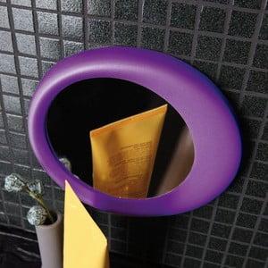 Przyczepne powiększające lustro  Eclisse, fioletowe