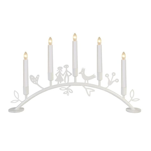 Świecznik LED Dena, biały