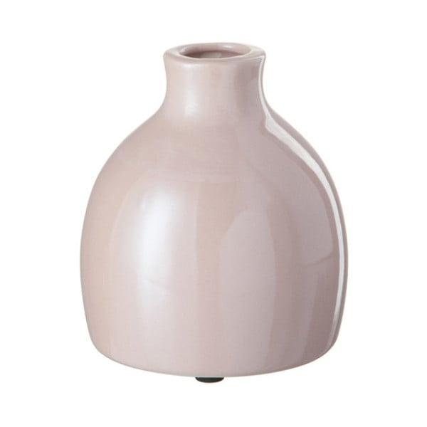 Różowy kamionkowy wazon J-Line, 12x12x13 cm