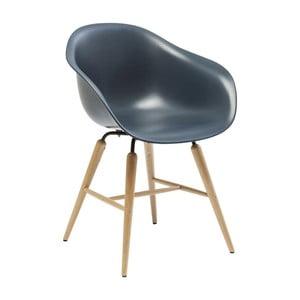 Granatowe krzesło do jadalni Kare Design Forum Object