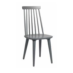 Szare krzesło do jadalni z drewna kauczukowca Rowico Lotta