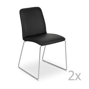 Zestaw 2   czarnych krzeseł Garageeight Finnoy