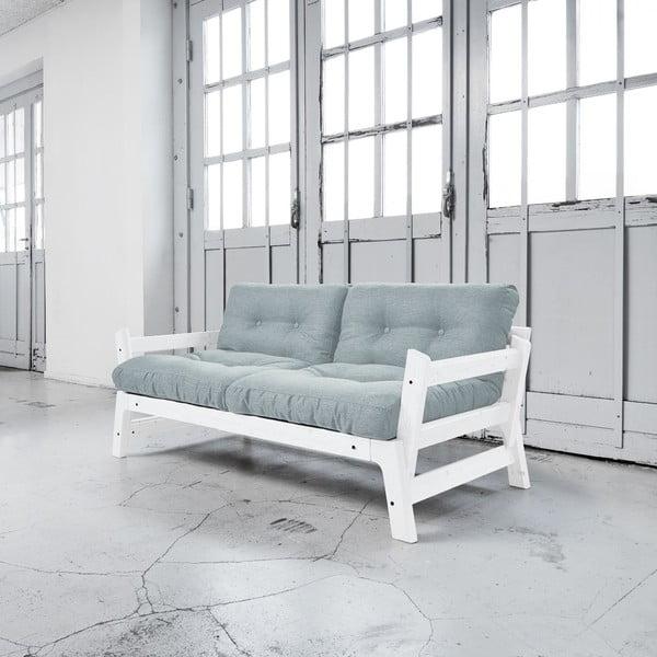 Sofa rozkładana Karup Step White/Sky Blue
