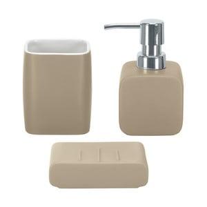 Zestaw akcesoriów łazienkowych Cubic Taupe