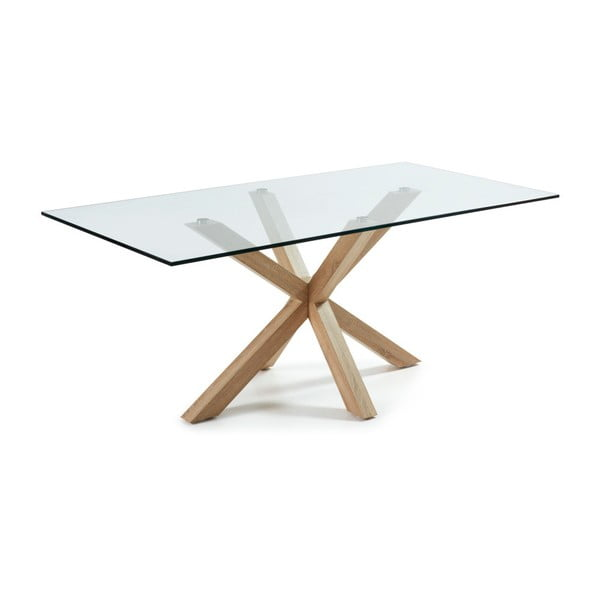 Stół z drewnianymi nogami La Forma Arya,dł.200cm