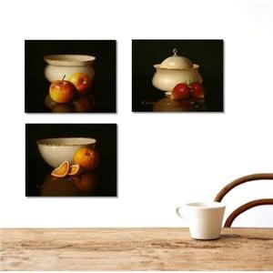 Trzyczęściowy obraz Kitchen, 45x90 cm