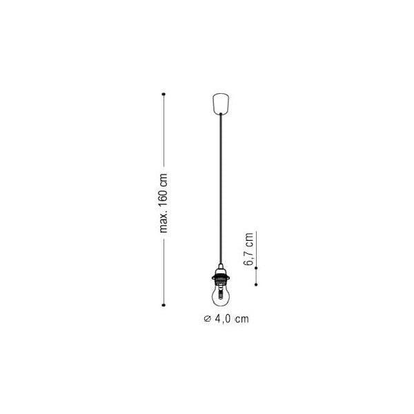 Pięć wiszących kabli Uno+, czarny/czarny