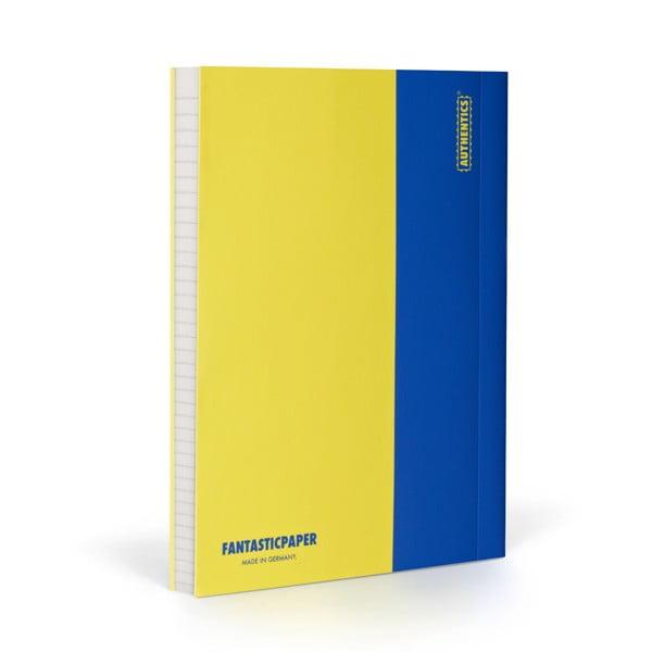 Notes FANTASTICPAPER A5 Lemon/Blue, w linie