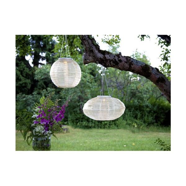 Biały ogrodowy lampion solarny LED Best Season Festival, ø 35 cm