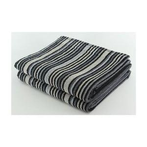 Komplet 2 ręczników Black Stripes, 70x140 cm
