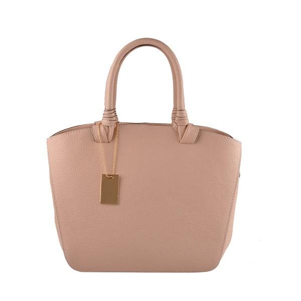 Skórzana torebka Emilio Masi Bristol, różowa