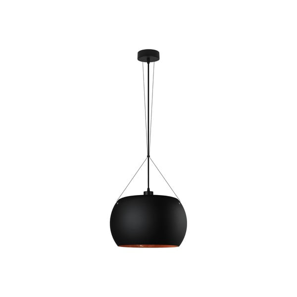 Czarno-miedziana lampa wisząca Sotto Luce Momo