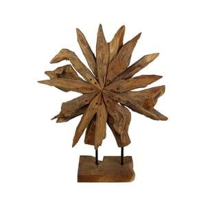 Dekoracja z drewna tekowego HSM Collection Sunflower, 60 x 80 cm