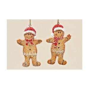 Zestaw 2 wiszących dekoracji Ginger Bread