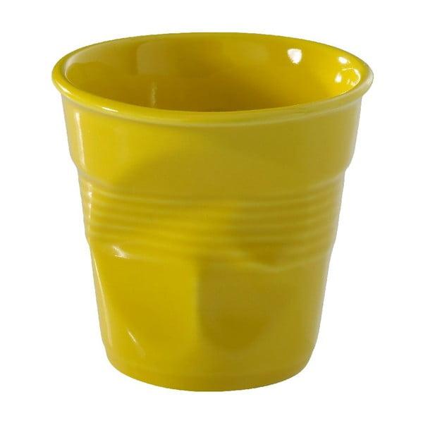 Filiżanka na espresso Froisses 8 cl, żółta
