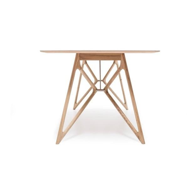 Stół dębowy do jadalni Tink Linoleum Gazzda, 160cm, oliwkowy