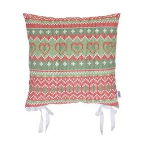 Świąteczna poduszka na krzesło Apolena Shine Knit, 43x43 cm