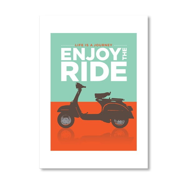"Plakat autorski ""Enjoy the Ride Vespa"""