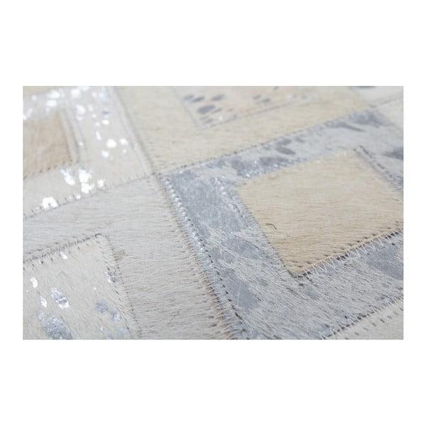 Szary skórzany dywan Dazzle, 160x230cm