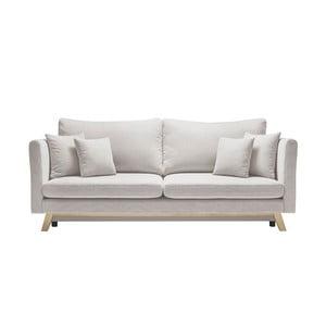 Kremowa 3-osobowa sofa rozkładana Bobochic Paris Triplo