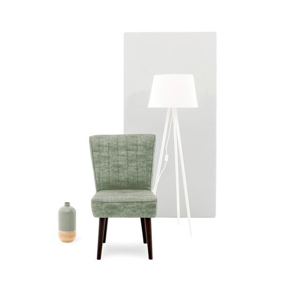Krzesło tapicerowane w kolorze khaki Vivonita Leila