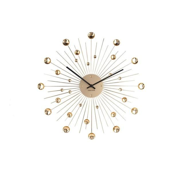 Zegar w złotym kolorze Karlsson Sunburst