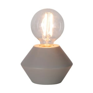 Beżowo-szara drewniana lampa stołowa Best Season Grace