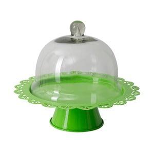 Patera na tort Dolci 22 cm, zielona