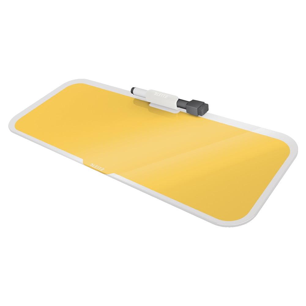Żółty szklany notatnik na biurko Leitz Cosy