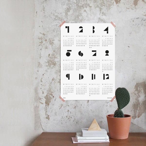 Kalendarz ścienny SNUG.Toy Blocks 2017, biały
