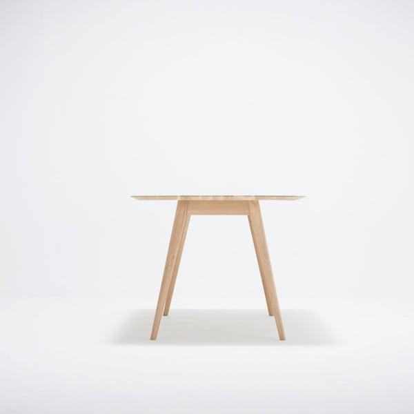 Stół z drewna dębowego Gazzda Stafa, 160x90x75,5 cm