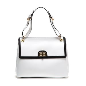 Biała skórzana torebka Anna Luchini