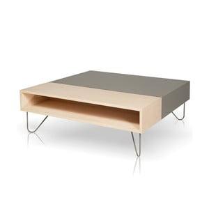 Szary stolik, dębowy Vintme AL2