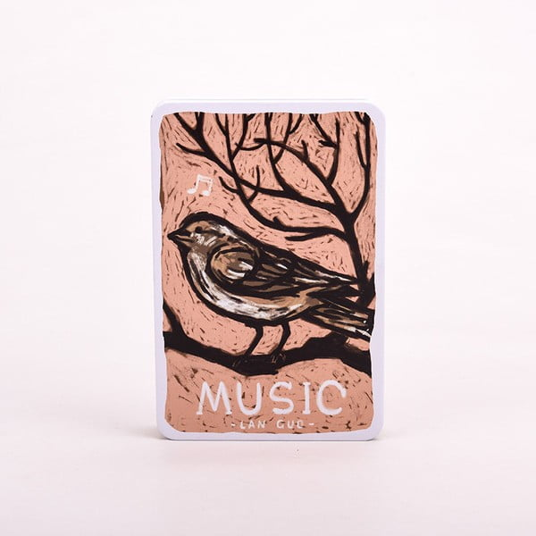 Notes Music, różowy ptaszek