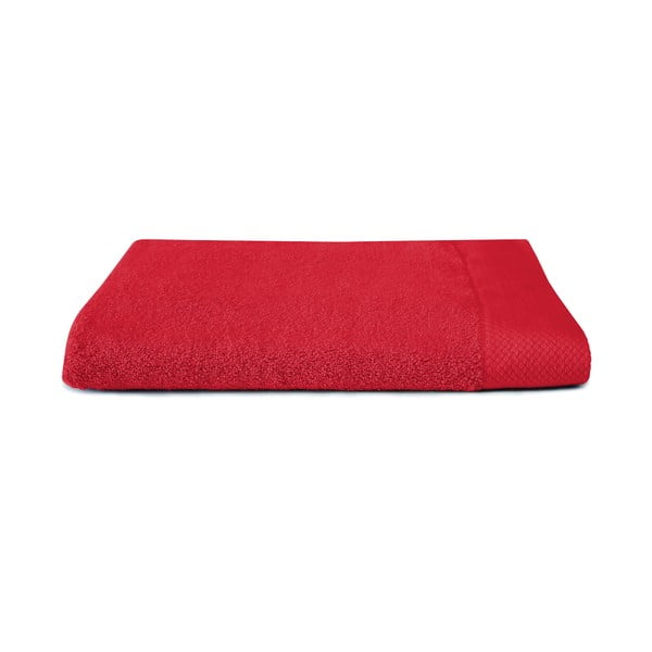 Czerwony ręcznik Seahorse Pure, 70x140cm