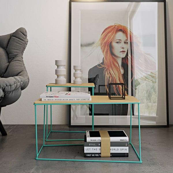 Stolik z zielonymi nogami TemaHome Opal Long