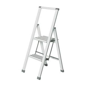 Biała drabinka składana Wenko Ladder Alu, 101 cm